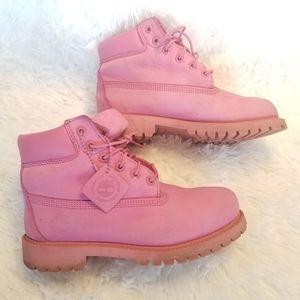 Classic Pink Timberlands